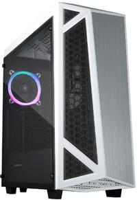Raidmax - Sigma Prime RGB LED Tempered Glass Side (GPU 400mm) ATX Gaming Chassis - Black - Cover