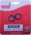 Lamp Rubber  Washer - Black (Pack of 2)