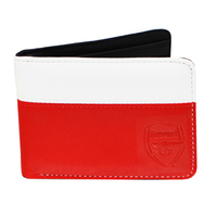 Arsenal F.C. - 2 Tone Debossed Crest PU Leather Wallet - Cover