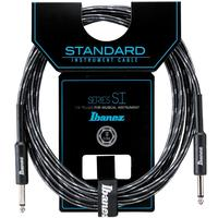 Ibanez SI Series 6m Woven Instrument Cable (Charcoal and Grey)