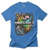 Minecraft - Hostile Mob - Youth T-Shirt - Royal Blue (7-8 Years)