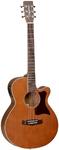 Tanglewood X45 NSE Sundance Performance Pro Series Super Folk Acoustic Electric Guitar (Vintage Amber)