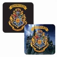 Harry Potter - Hogwarts Crest Lenticular Single Coaster