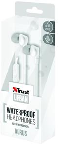 Trust - Aurus Waterproof In-ear Headphones - White - Cover