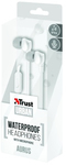 Trust - Aurus Waterproof In-ear Headphones - White