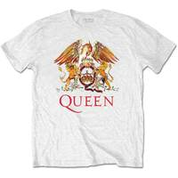 Queen Classic Crest Men's White T-Shirt (Small) - Cover