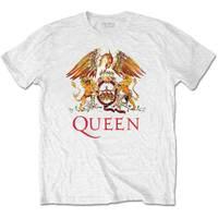 Queen Classic Crest Men's White T-Shirt (XX-Large) - Cover