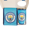 Manchester City Scarf & Supporter Banner Gift Set (Small-Medium)