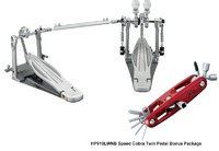 Tama HP910LWNB Speed Cobra 910 Series Rolling Glide Double Bass Drum Pedal - 25th Anniversary Bonus Package (inc. LTD Red Multi Tool)