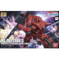 Bandai - 1/144 - Gundam: The Origin - MS-06S Zaku II (Plastic Model Kit)