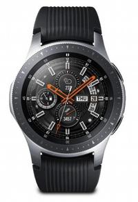 Samsung - Galaxy Watch 1.3 inch BT 46mm - Silver with Black Strap - Cover