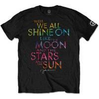 John Lennon Shine On Men's Black T-Shirt (Small) - Cover