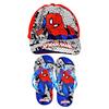 Spiderman - Cap And Slipper Gift Set (Kids Size 31/32)