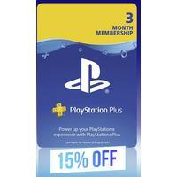 PlayStation Plus 3 Month Membership 15% Off Black Friday Promo (PS3/PS4/PS VITA)