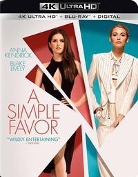 Simple Favor (Region A - 4K Ultra HD + Blu-Ray) - Cover
