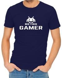 Retro Gamer Men's Navy T-Shirt (Medium) - Cover