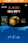 2,000 + 400 Bonus Call of Duty Points (CP) (PS4)