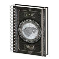 Game of Thrones - Stark Note Book - A5 - Cover