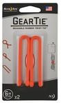 Nite Ize - 6 Inch Gear Tie Reusable Rubber Twist Ties - Bright Orange (Pack of 2)