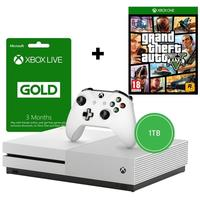 Microsoft - Xbox One S 1TB Console - Includes Grand Theft Auto V + 3 Months Live (White)