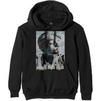 Tupac L.A. Skyline Men's Black Hoodie (XX-Large) - Cover