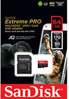Sandisk - 64GB Extreme Pro microSDXC Memory Card - Class 10