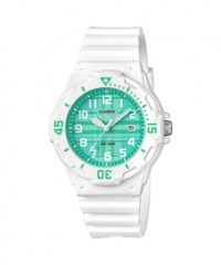 Casio Ladies Standard Collection Analogue Wrist Watch - White and Green - Cover