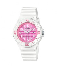 Casio Ladies Standard Collection Analogue Wrist Watch - White and Pink - Cover