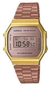 Casio Retro Series Digital Wrist Watch - Rose Gold and Gold - Cover