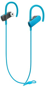 Audio Technica ATH-SPORT50BT SonicSport In-Ear Wireless Headphones (Blue) - Cover