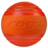 Rogz - Squeekz Medium Toy Ball For Dogs (Orange)