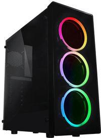 Raidmax - Neon Window RGB LED (GPU 355mm) ATX Micro ATX Computer Chassis - Black - Cover