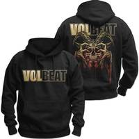 Volbeat Bleeding Crown Skull Men's Black Hoodie (X-Large) - Cover