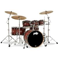 PDP Concept Maple Series 7pc Acoustic Drum Kit - Shells Only - Satin Tobacco Burst (8 10 12 14 16 22 14 Inch)