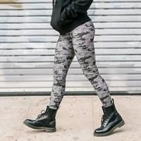 J!Nx Camo Womens Leggings - Grey (Large) - Cover