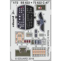 Eduard - Photoetch: 1/72 - C-47 - Dakota (Hobbyboss) (Plastic Model Kit Add-On)