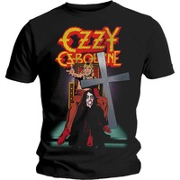 Ozzy Osbourne Speak of the Devil Vintage Men's Black T-Shirt (Large) - Cover