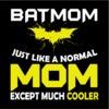 Batmom Women's Black T-Shirt (XXXX-Large)
