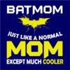 Batmom Women's Navy T-Shirt (XXXX-Large)