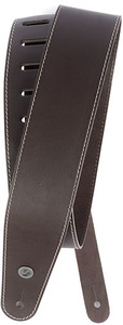 Planet Waves 25LS01-DX 2.5 Inch Classic Leather Instrument Strap with Contrast Stitch (Brown) - Cover