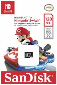 Sandisk MicroSDXC UHS-I Memory Card For Nintendo Switch - 128GB - Cover
