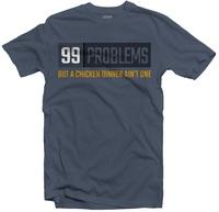 PUBG - 99 Problems Men's Tee - Steel Blue (X-Large) - Cover