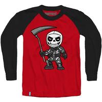 Fortnite - Chibi Skull Trooper - Teen Long Sleeve - Red/Black (15-16 Years) (X-Large)