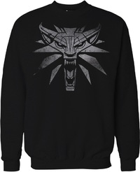 The Witcher 3 - White Wolf - Men's Sweater - Black (Small) - Cover