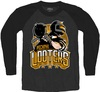 PUBG - Pochinki Looters Raglan - Men's Long Sleeve – Charcoal/Black (Medium)