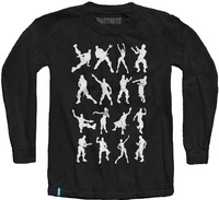 Fortnite - Emotes - Teen Long Sleeve - Black (13-14 Years) (Large) - Cover