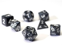 Sirius Dice - Set of 7 Polyhedral Dice - Pearl Grey & White - Cover