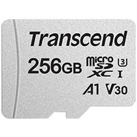 Transcend 300S 256GB MicroSDXC UHS-I Memory Card - Class 10 (with SD Adaptor)
