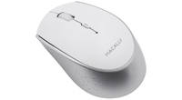 Macally - Rechargeable Bluetooth Optical Mouse - White/Silver - Cover