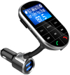 Gizzu - Bluetooth Handsfree Kit with FM Transmitter LED Interface 1 x Micro SD (512MB Max) - Blue/White